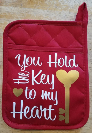 Pot Holder - Keys To My Heart