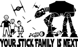 Stick Family Vinyl - AtAt