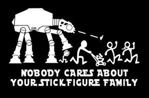 Stick Family Vinyl - AtAt 3