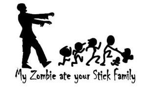 Stick Family Vinyl - Zombies Ate Your Stick Family