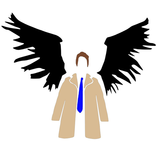 Supernatural Vinyl *  Castiel in Colour