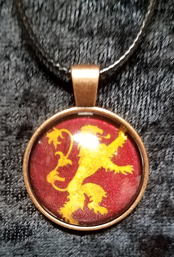 Game of Thrones - House Lannister (dome necklace)