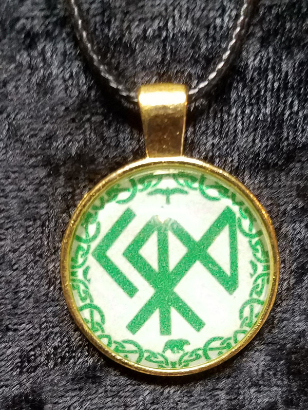 Norse God Bind-Rune - Nord (dome necklace)