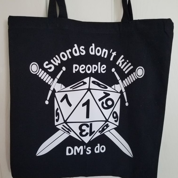 Book Bags - Swords Don't Kill People.. DM's Do