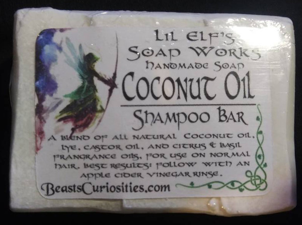 Lil Elf's Soaps - Coconut Oil Shampoo Bar