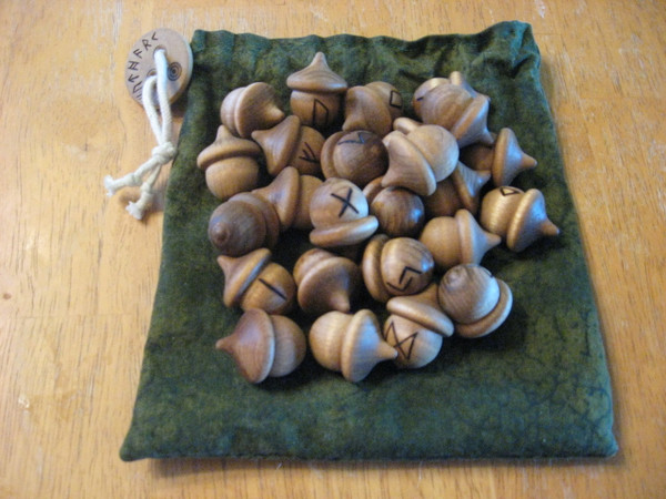 Full Set of Elder Futhark Acorns