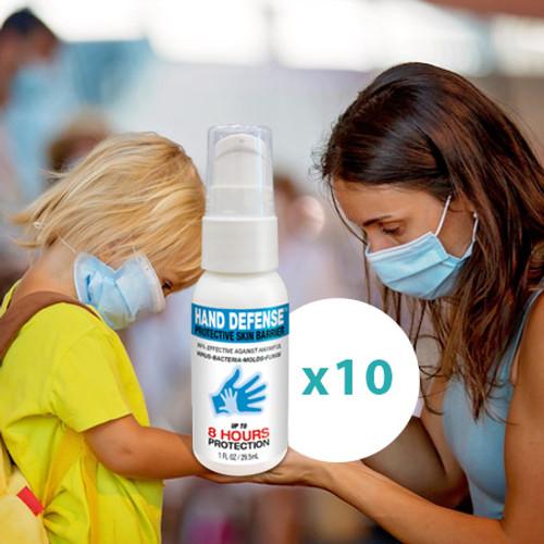 Hand Defense 10 Bottle Super Value Pack