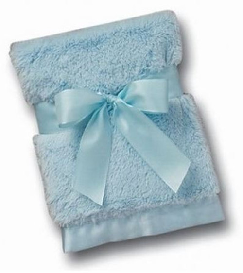 Silky Soft Crib Blanket (Blue)