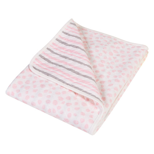 Cloud Knit Blanket - Pink & Grey
