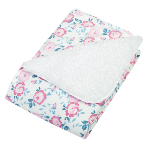 Flannel Plush Blanket - Pink Floral