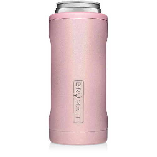 Brumate 12oz Slim Can Cooler - Glitter Blush
