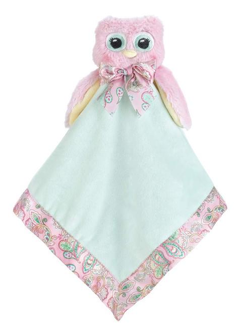 Bearington Baby Snuggler - Pink Owl
