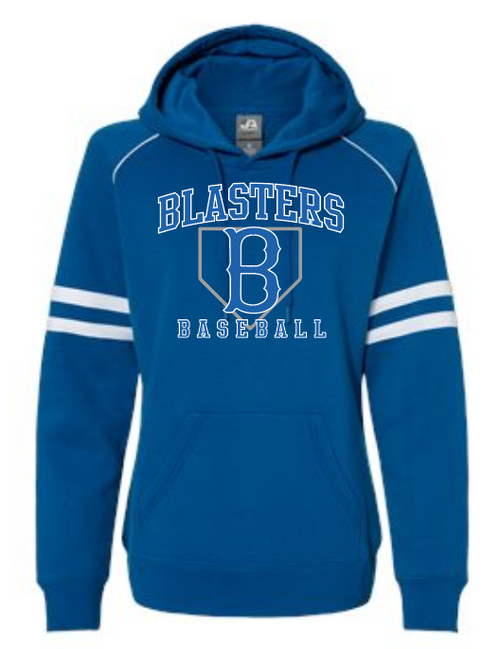Blaster Royal Varsity Fleece Piped Hooded Sweatshirt