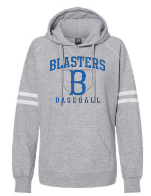 Blaster Grey Varsity Fleece Piped Hooded Sweatshirt