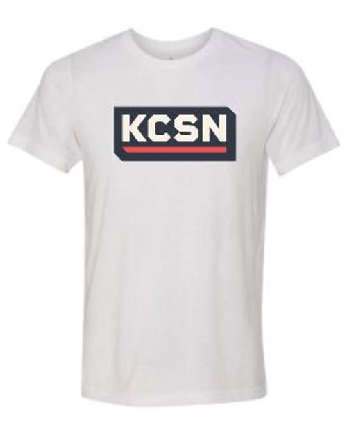 KCSN SS Tri-blend Tee White