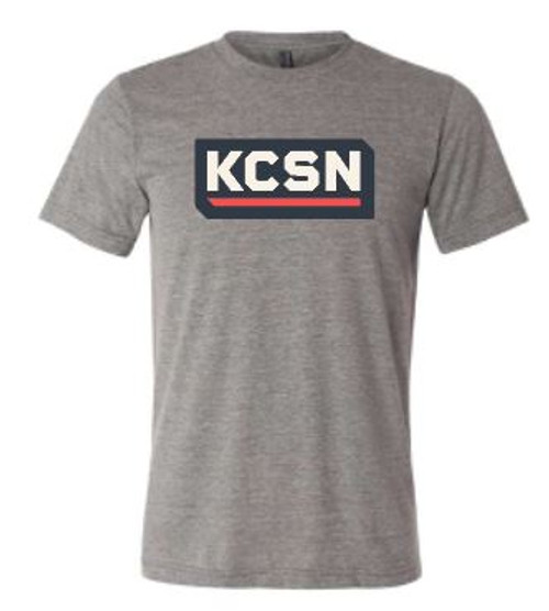 KCSN SS Tri-blend Tee Grey