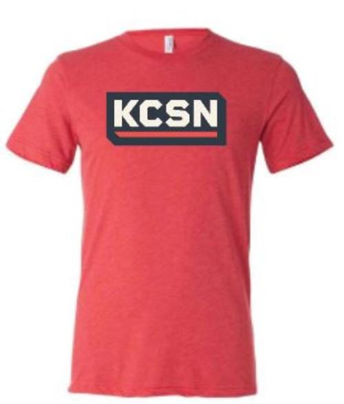 KCSN SS Tri-blend Tee Red