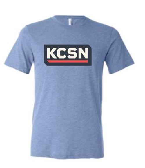 KCSN SS Tri-blend Tee Blue