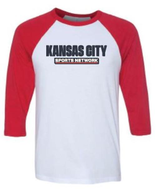KCSN Baseball Tee Red