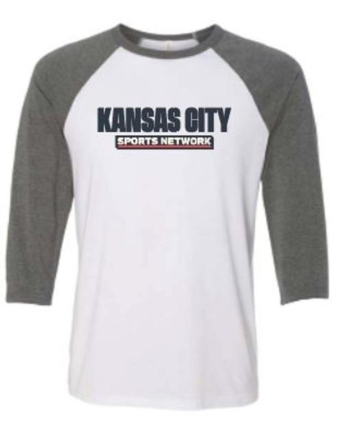 KCSN Baseball Tee Grey