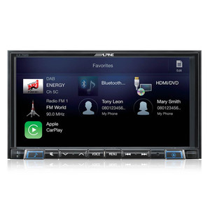 Alpine iLX-702D 7-Inch In-Dash Receiver with DAB+, Apple CarPlay & Android Auto