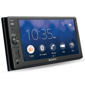 BONUS REVERSE CAMERA! Sony XAV-AX1000 6.2 Media Receiver with Apple Carplay & Bluetooth