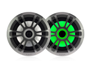 "Fusion EL-FL651SPG EL Series 6.5"" Full Range Shallow Mount Marine Speakers with LEDs"