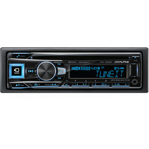 Alpine CDE-163EBT CD Receiver with Bluetooth, USB  and iPod and iPhone
