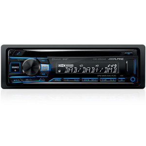 Alpine CDE-205DAB CD Receiver with Bluetooth, USB, iPod and iPhone