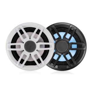 "Fusion  XS-FL77SPGW XS Series 7.7"" RGB Lighting Speaker pair - with Sports White & Grey Grills - 240W"