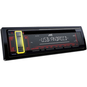 JVC KD-T401 1DIN CD Receiver with USB playback