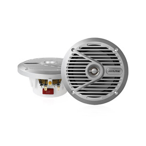 Alpine SPS-M601 6 1/2 Coaxial 2-Way silver marine speaker
