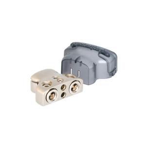 Rockford Fosgate RFDB1 Positive/Negative battery terminal, platinum finish 2 1 or 0 AWG/4 AWG input (2) 8 AWG inputs