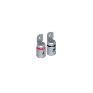Rockford Fosgate RFT4 4 AWG set screw ring terminal, platinum finish, 2 pack