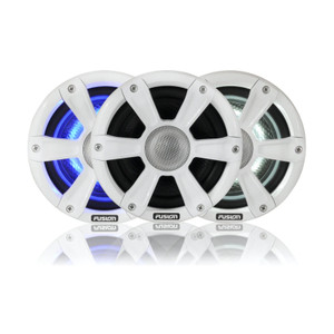"Fusion SG-FL65SPW / 010-01428-00  6.5"" 230 WATT Coaxial Sports White Marine Speaker with LEDs"