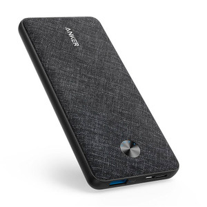 Anker A1229T11 Powercore Slim Polymer 10000 Blackl Fabric