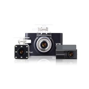 Gnet X3I 3 CH Full HD Dash camera w/ inside IR Camera and 64GB memory Card