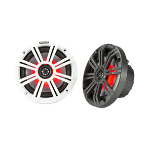 "Kicker 45KM654L KM 6.5"" LED Lit Coaxial MARINE Speakers"