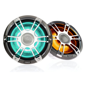 "Fusion SG-FL652SPC 6.5"" 230 Watt Coaxial Sports Chrome Marine Speaker with CRGBWine"