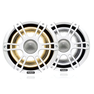 "Fusion SG-FL652SPW 6.5"" 230 Watt Coaxial Sports White Marine Speaker with CRGBW"