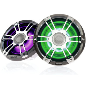 "Fusion SG-FL882SPC 8.8"" 330 Watt Coaxial Sports Chrome Marine Speaker with CRGBW"