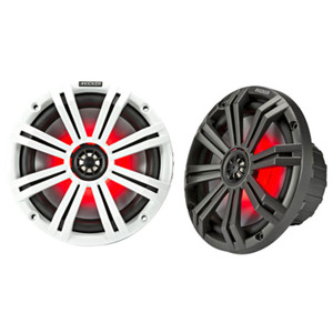 "Kicker 45KM84L Marine 8"" Coaxial 2 Way W/Led 150 W Charcoal + White Grill"