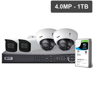 VIP Vision NVRKIT-P441M Pro Series 4 Camera 4.0MP IP Surveillance Kit (Motorised, 1TB)