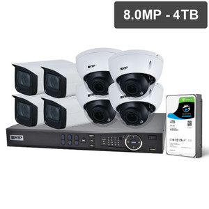 VIP Vision NVRKIT-P884M Pro Series 8 Camera 8.0MP IP Surveillance Kit (Motorised, 4TB)