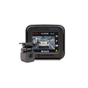 """Navman FOCUS450 Front and Rear dash cam with GPS and 2"""" LCD"""