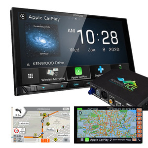 Kenwood DDX9020DABS AV Receiver with HEMA 4WD Navigation 6.8inch HD Display Apple Car Play Android Auto