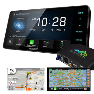 Kenwood DMX820WS AV Receiver with HEMA 4WD Navigation Android Auto Apple Carplay Toyota Fit