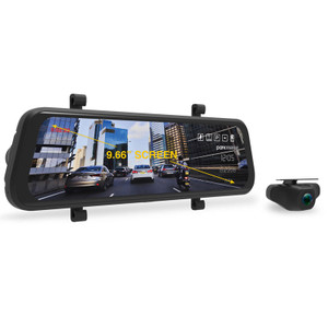 "Dashmate MCPK-962DVR 9.66"" Touch Screen Mirror with built in Dash camera"