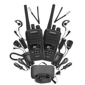 Uniden UH755-2DLX 5W UHF H Held Twin PK OLED Display IP54 Spk Mics Ear