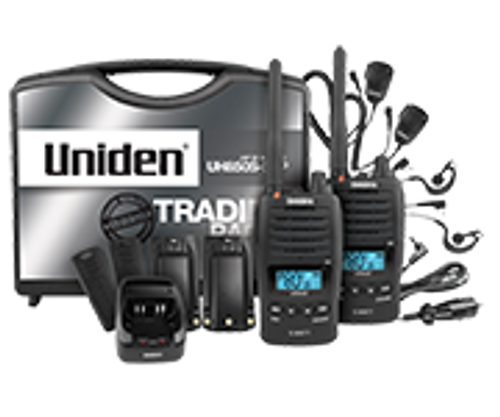 Uniden UH850S-2TP 5 Watt UHF Waterproof CB Handheld - Tradies Pack